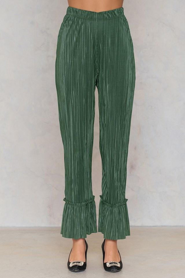 Pleated Frill Pants NA-KD.COM