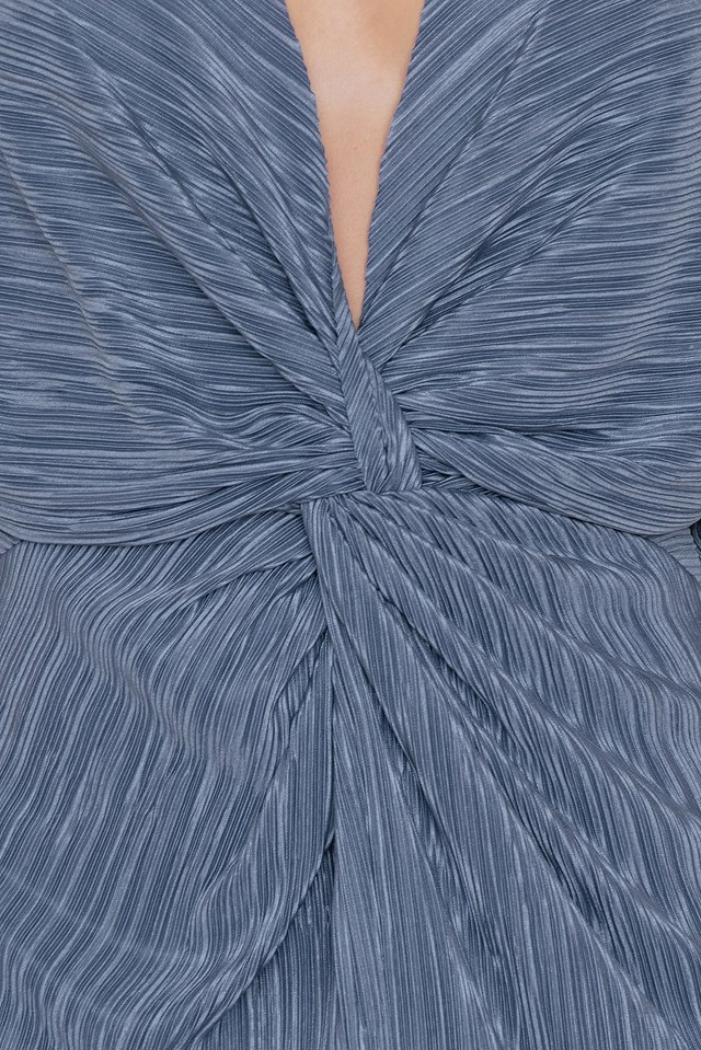 Pleated Knot Front Dress NA-KD.COM