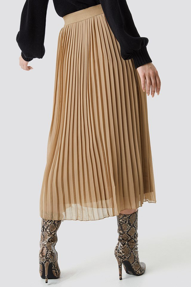 Pleated Long Skirt NA-KD.COM