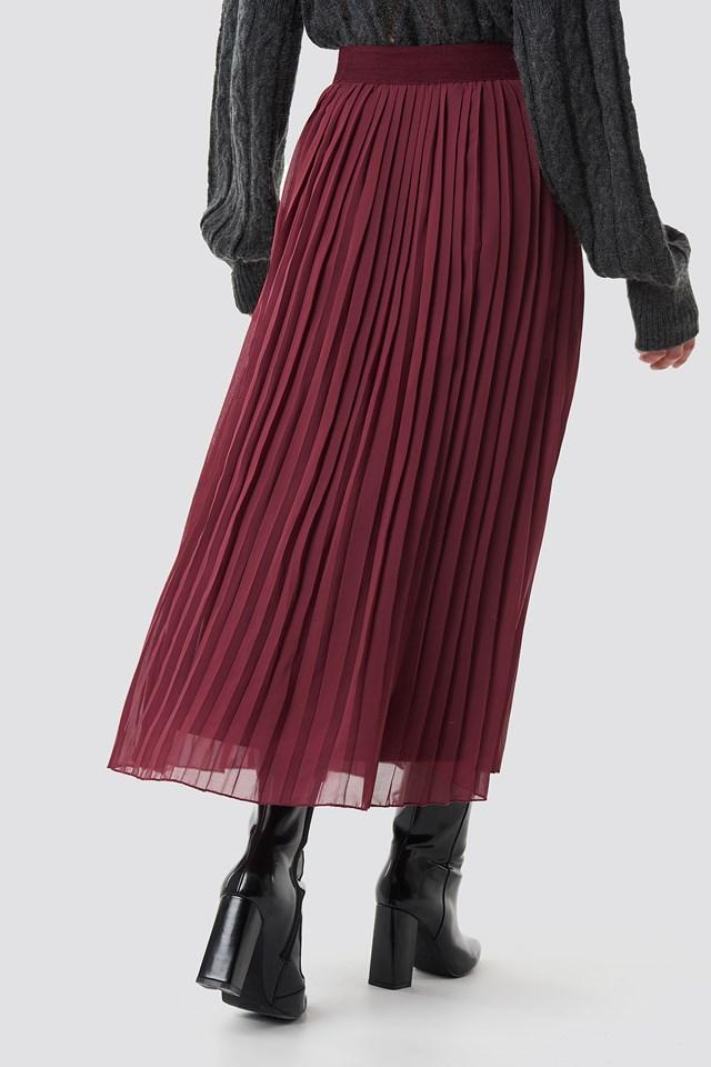 Pleated Long Skirt NA-KD.COM