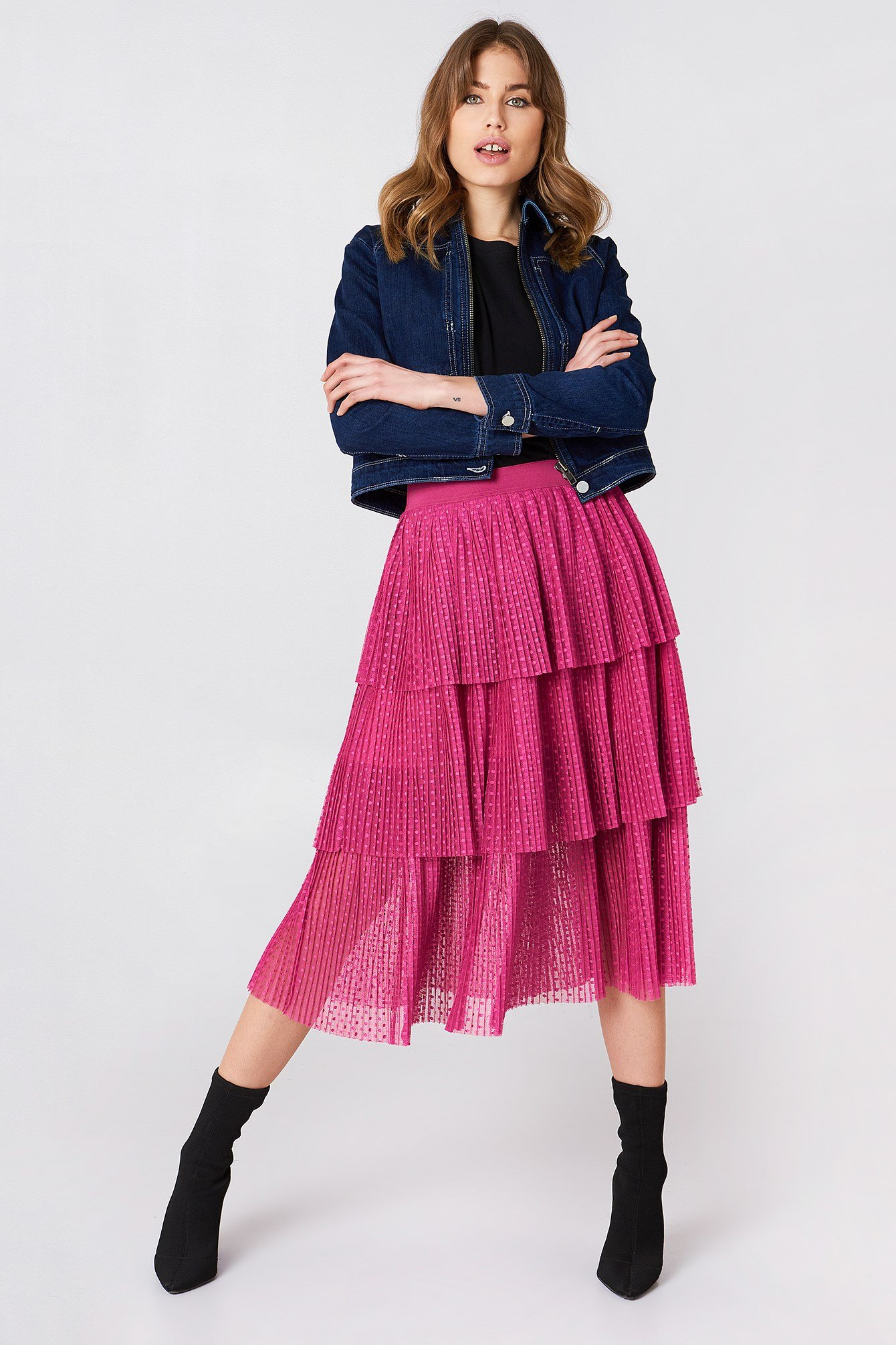 Pleated Mesh Skirt NA-KD.COM