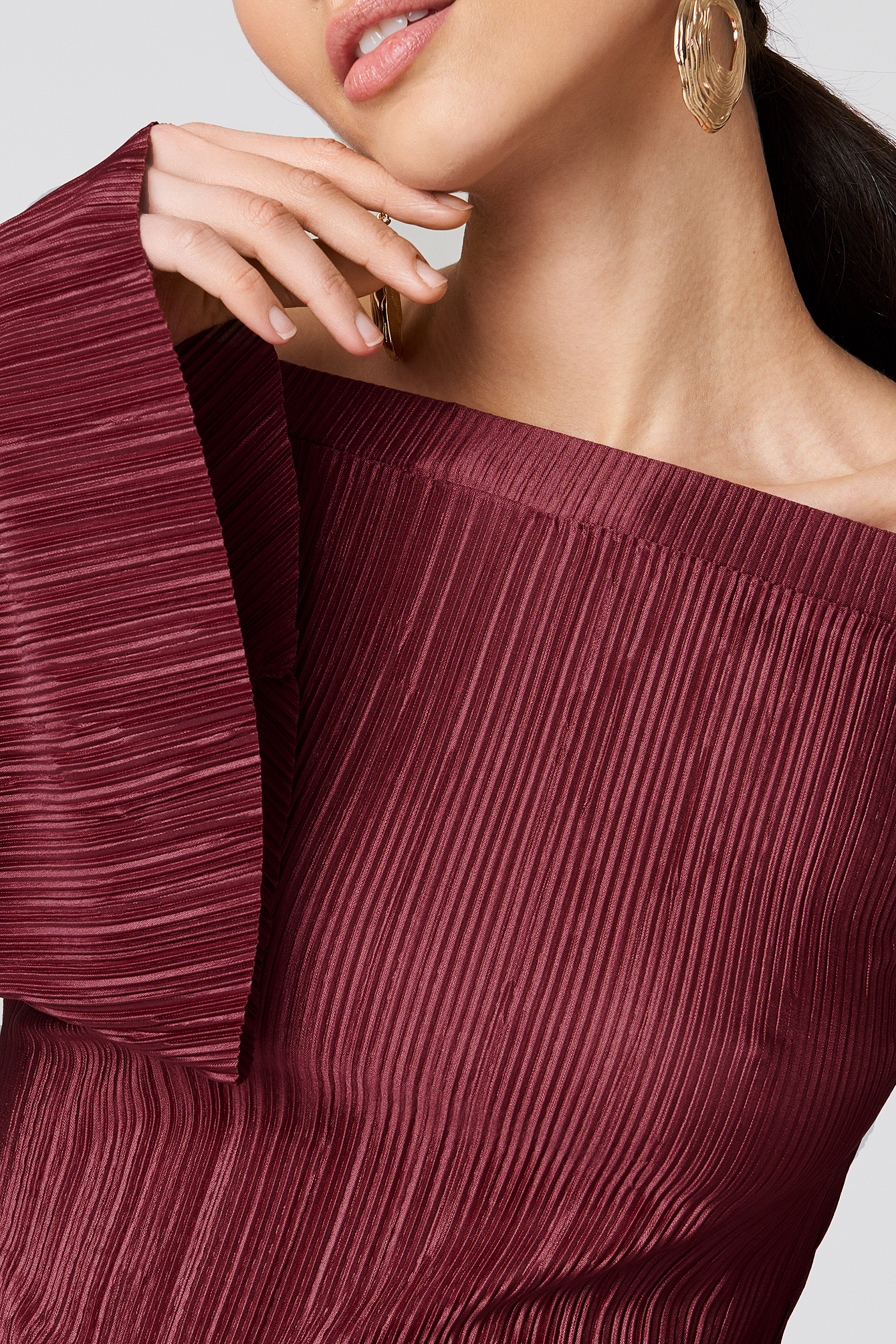 Top Pleated Off Shoulder NA-KD.COM