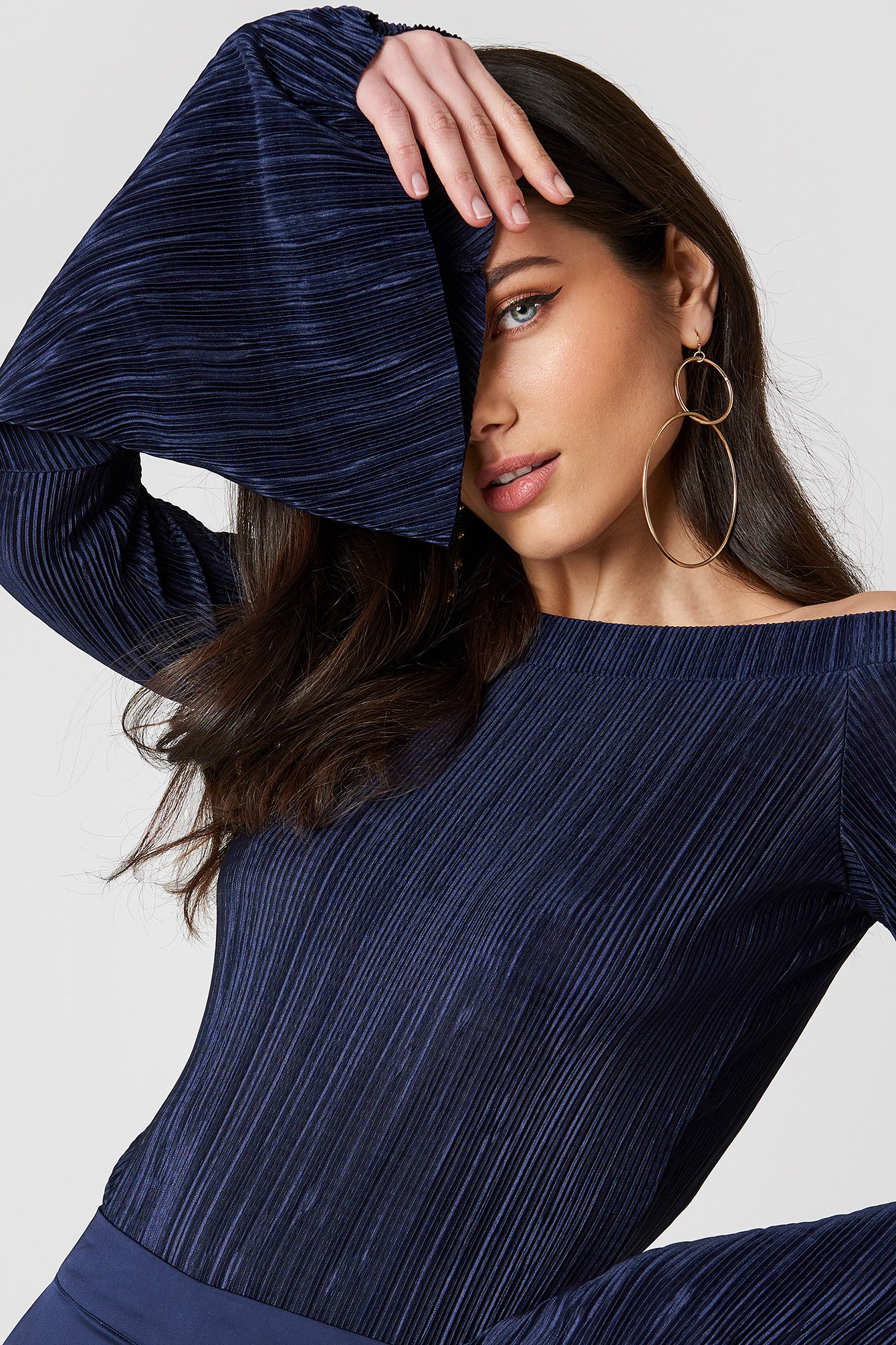 Pleated Off Shoulder Top NA-KD.COM
