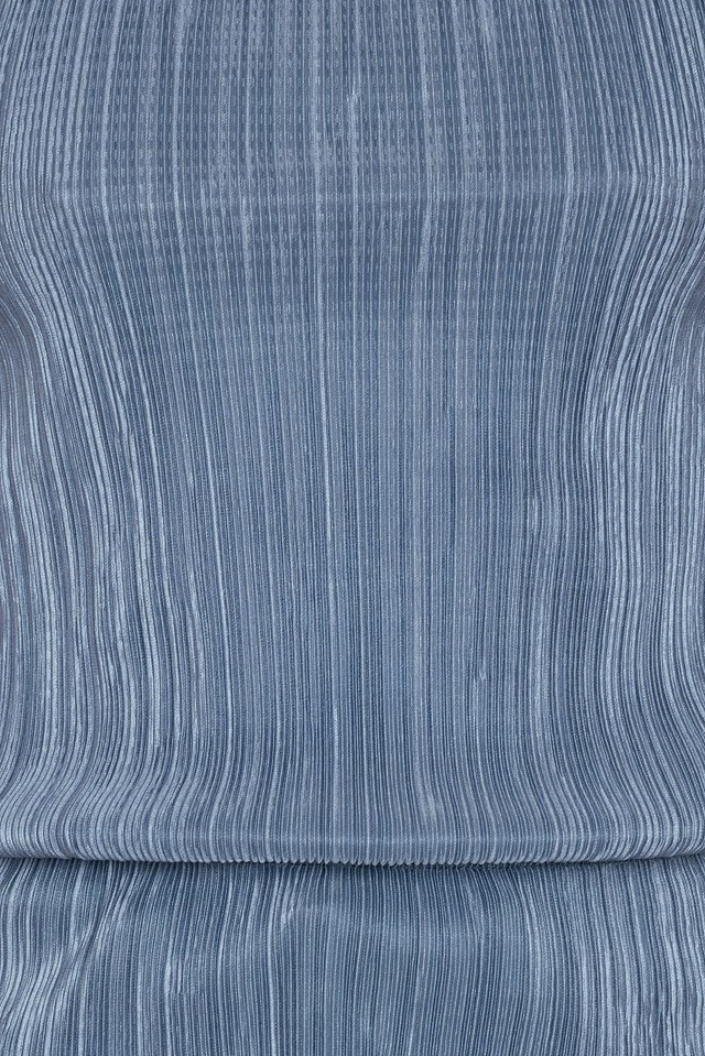Pleated Singlet Dusty Blue