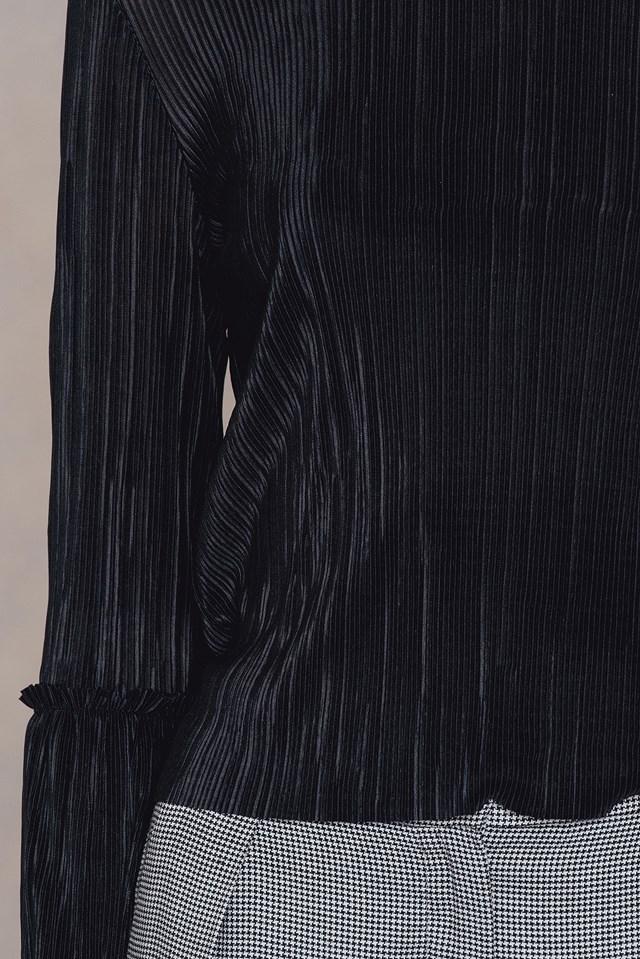 Pleated Frill Sleeve Top NA-KD.COM