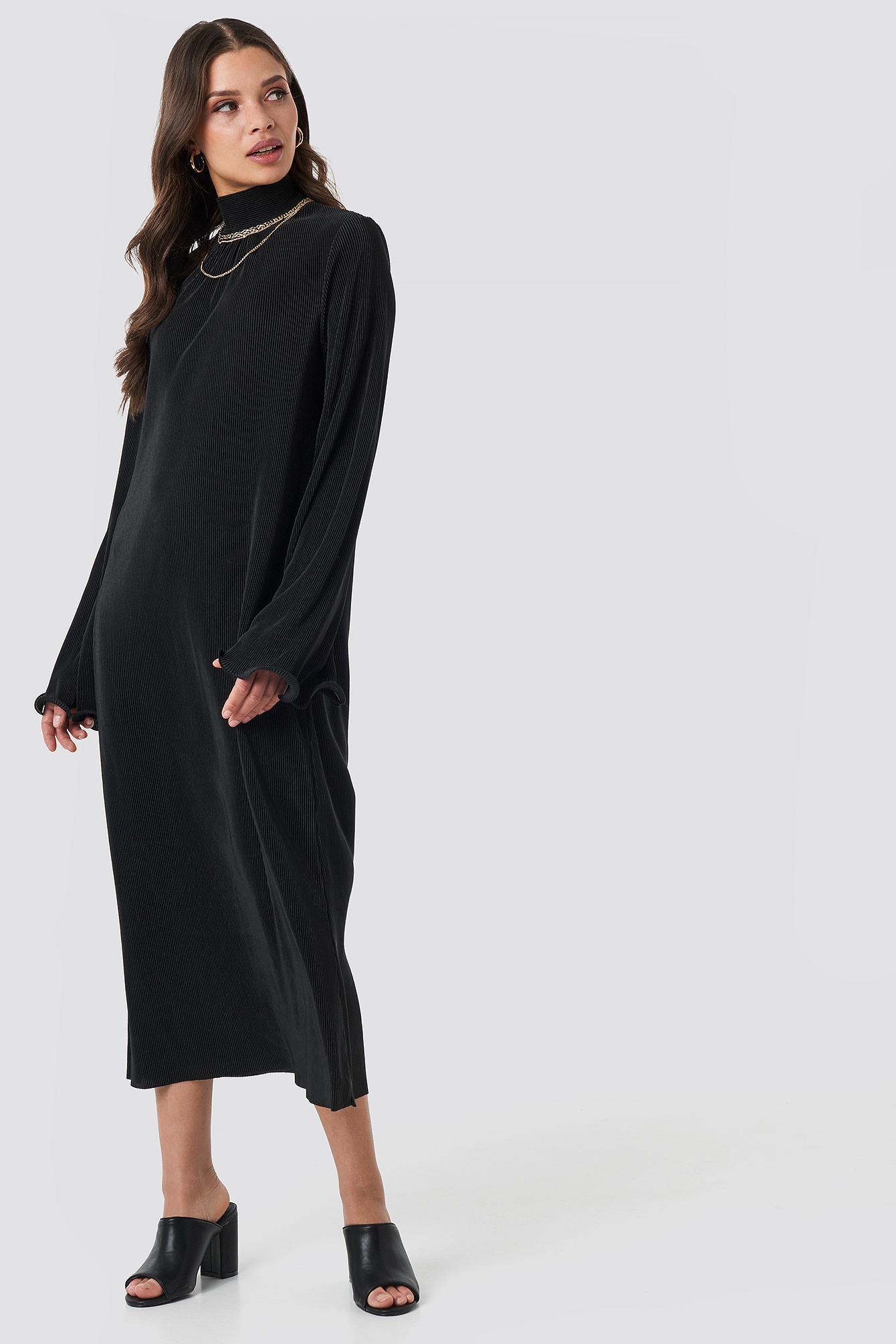 Pleated Wide Sleeve Ankle Dress NA-KD.COM