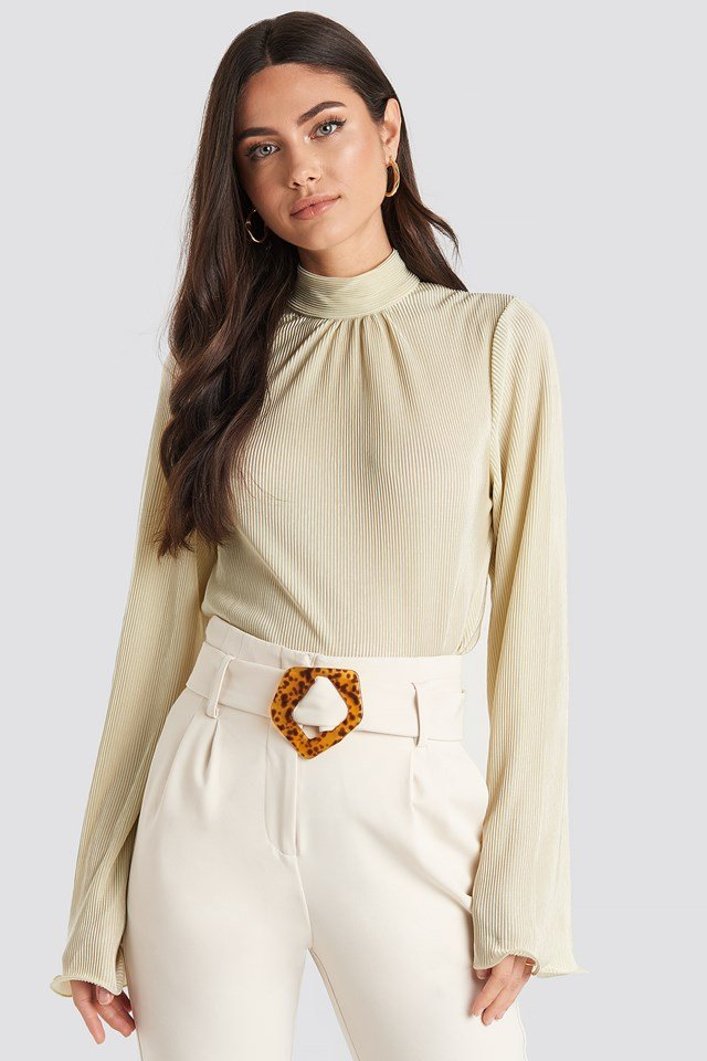 Pleated Wide Sleeve Top NA-KD Trend