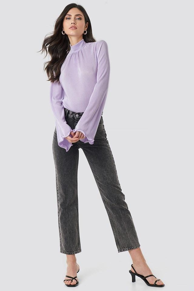 Pleated Wide Sleeve Top NA-KD.COM
