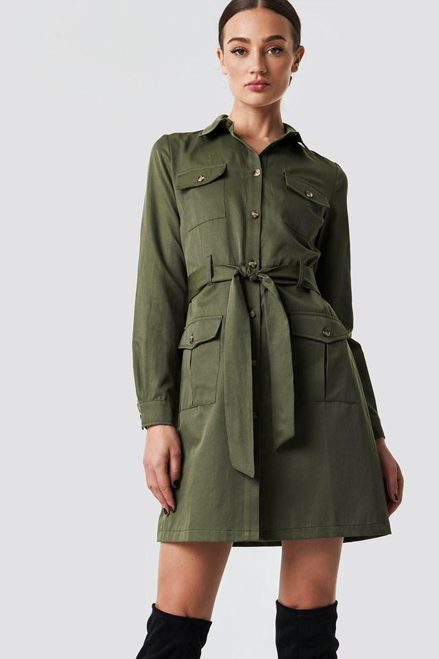 Pocket Detail Shirt Dress NA-KD.COM