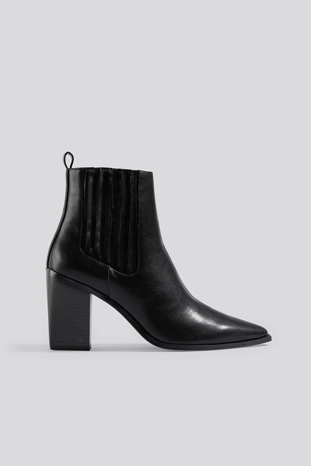 Pointy Block Heel Boots NA-KD Shoes