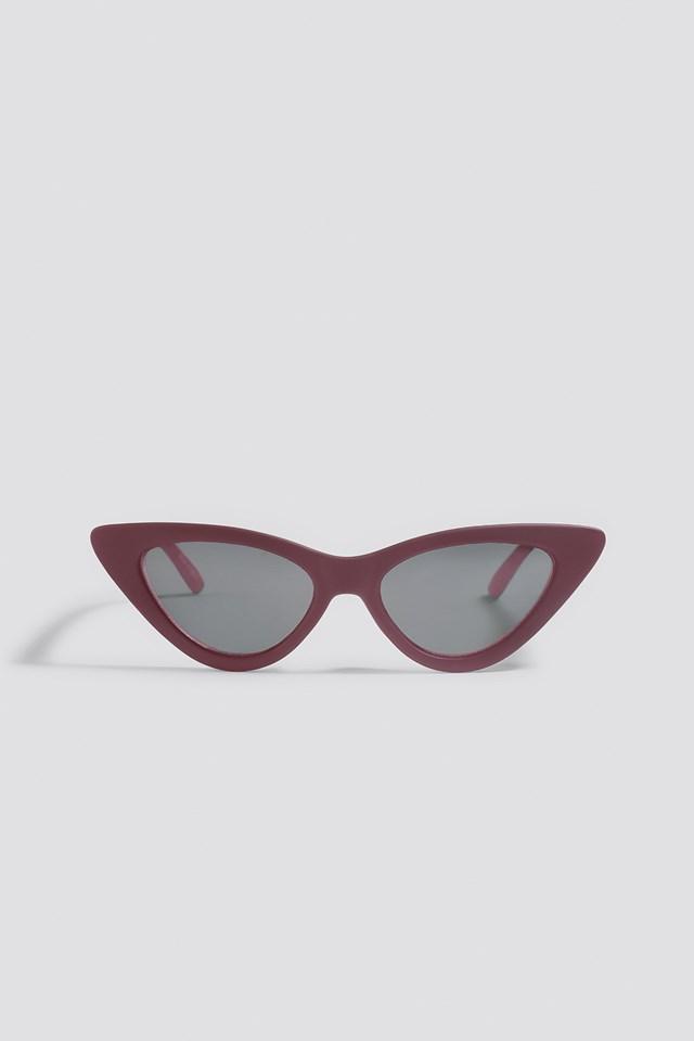 Pointy Cat Eye Sunglasses Burgundy