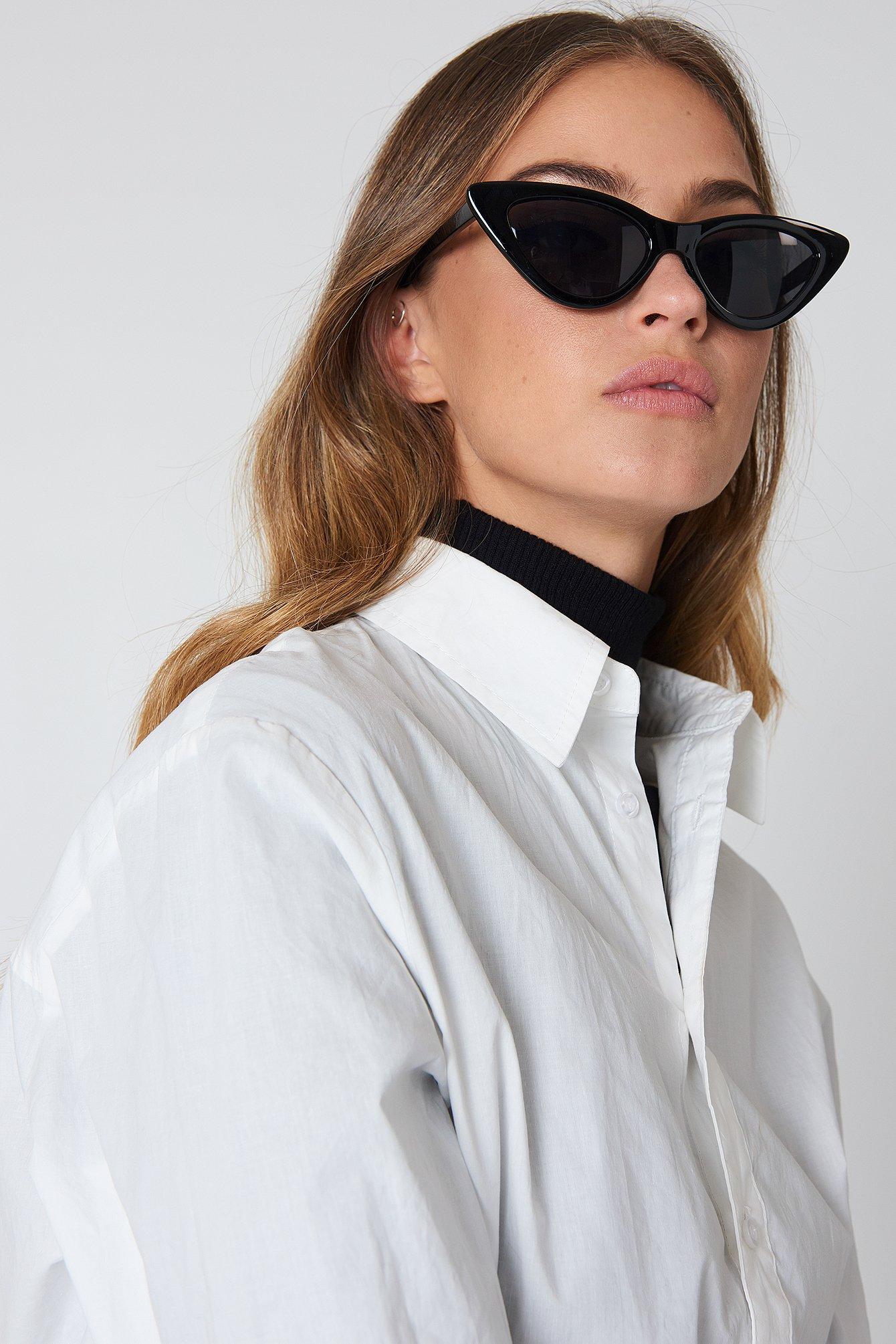 na-kd accessories -  Pointy Cat Eye Sunglasses - Black