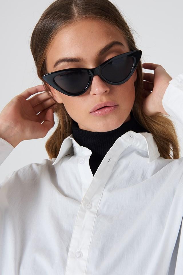 Pointy Cat Eye Sunglasses Black