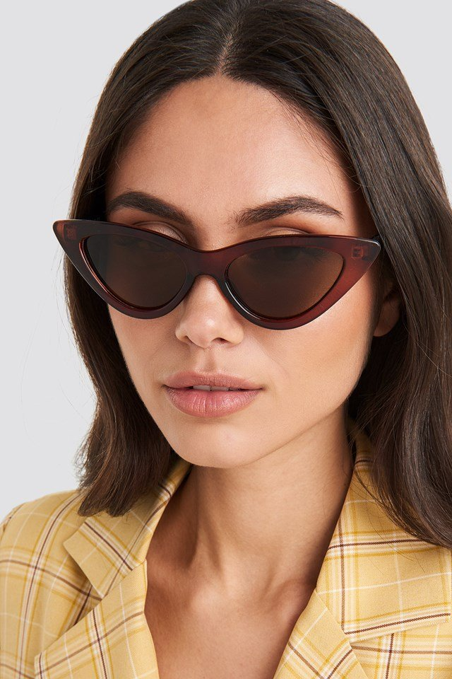 Pointy Cat Eye Sunglasses Brown