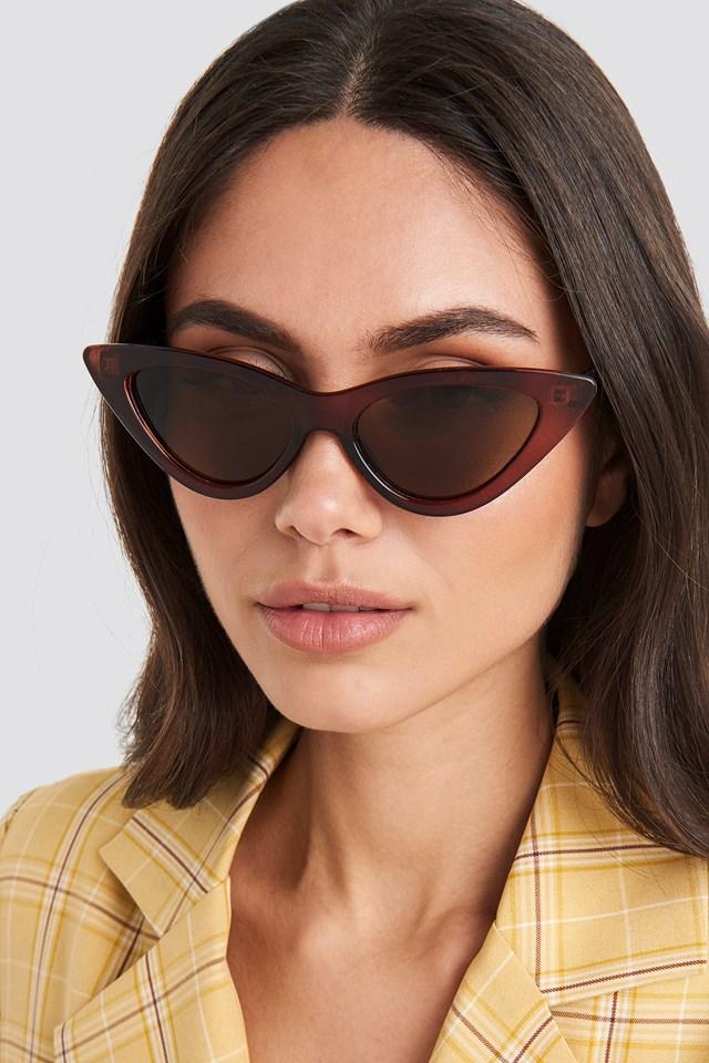 Okulary przeciwsłoneczne Pointy Cat Eye Brown