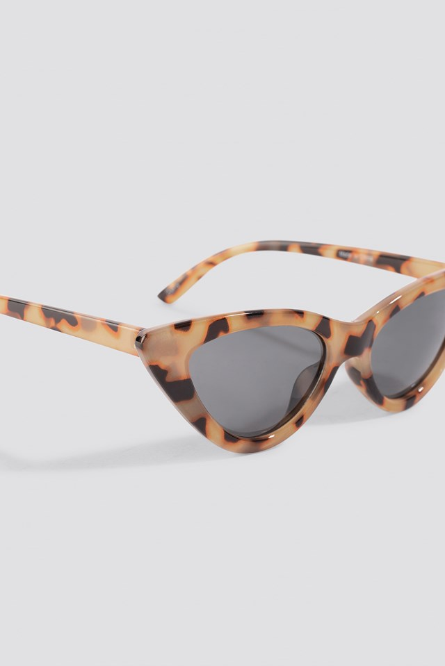 Pointy Cat Eye Sunglasses Nude Tortoise