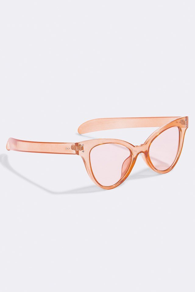 Pointy Colored Sunglasses Orange