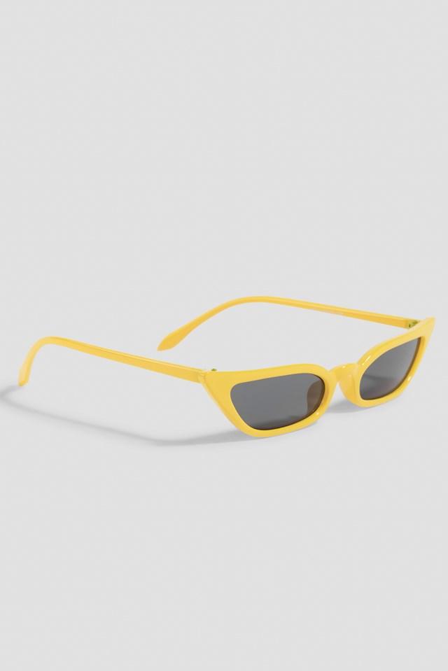 Pointy Edge Retro Sunglasses Yellow