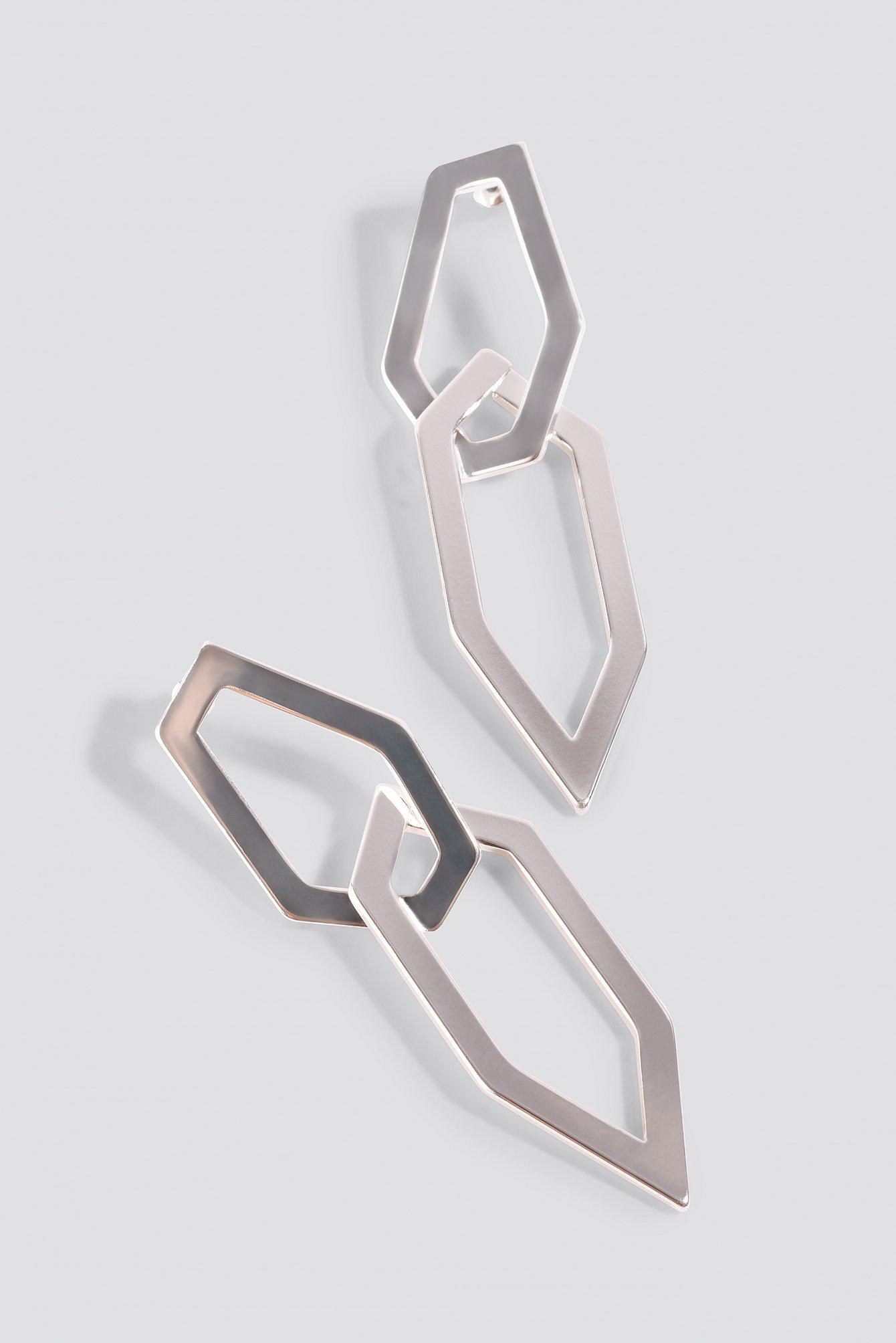 Pointy Framed Earrings NA-KD.COM