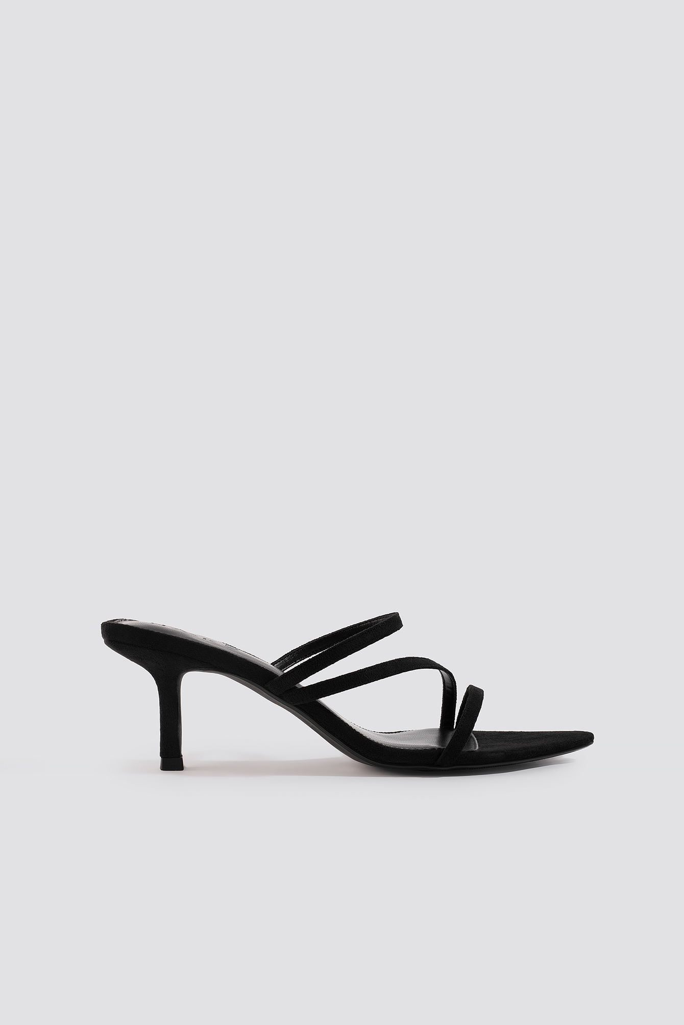 na-kd shoes -  Pointy Front Strappy Sandals - Black