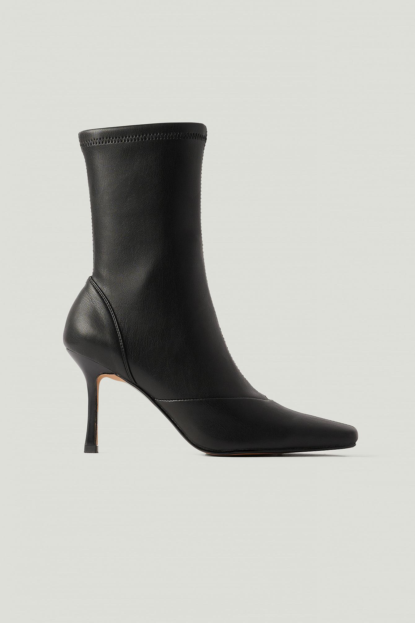 NA-KD Shoes Stövlar Med Spetsig Tå - Black