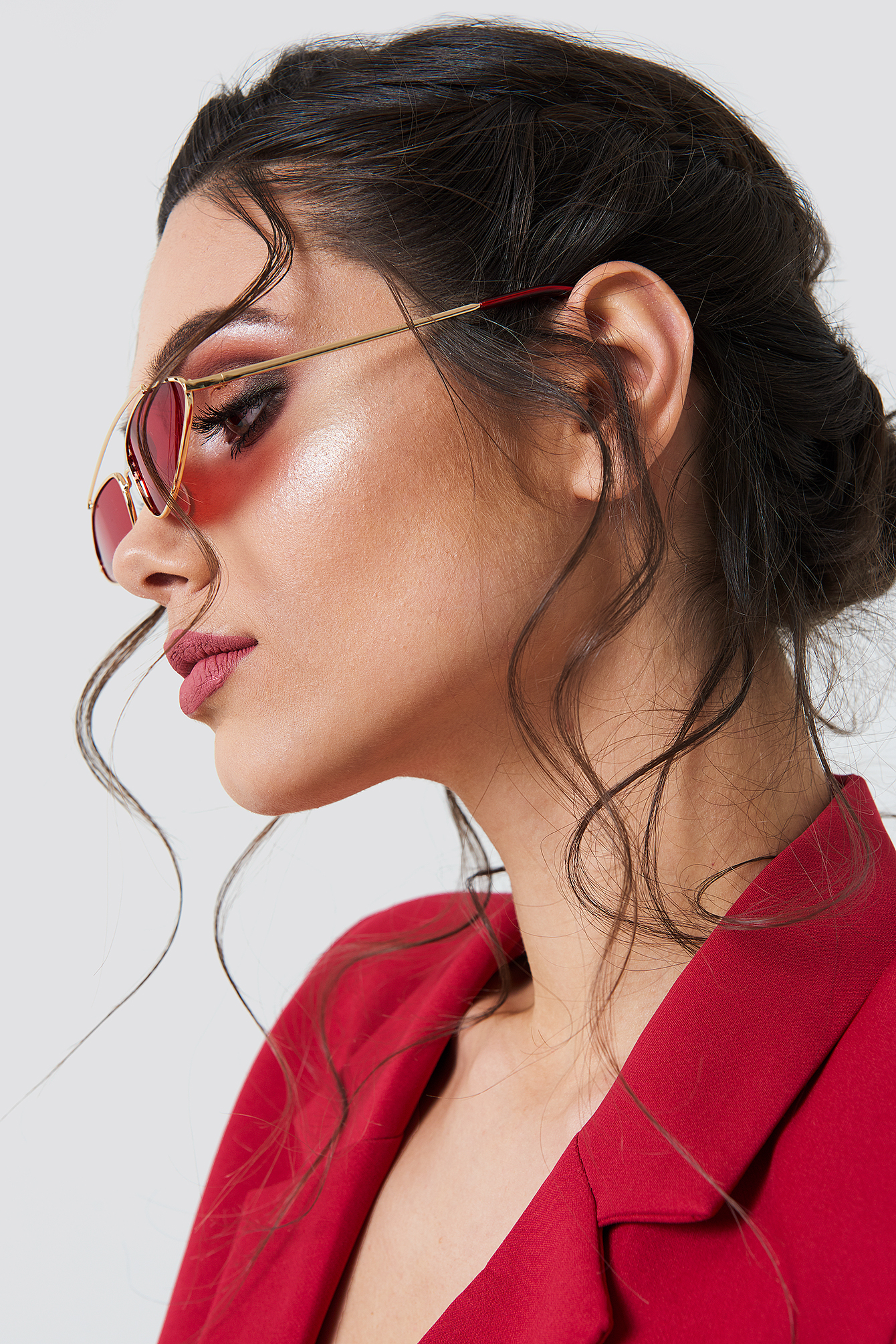 Pointy Metal Bridge Sunglasses NA-KD.COM