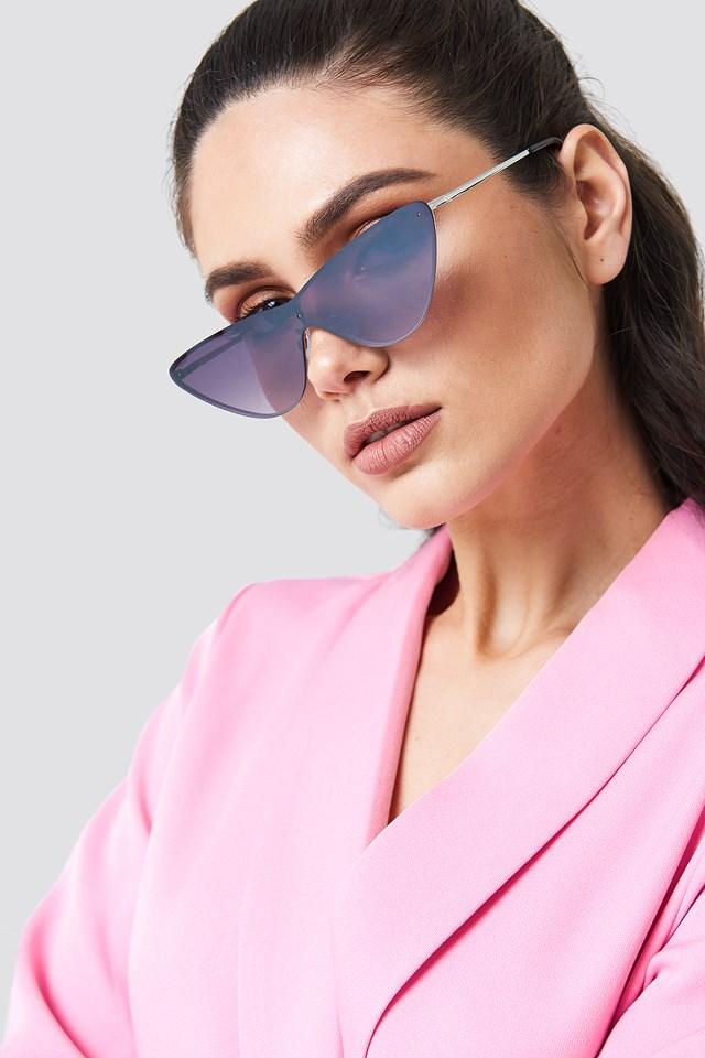 Okulary przeciwsłoneczne z metalowymi oprawkami Black