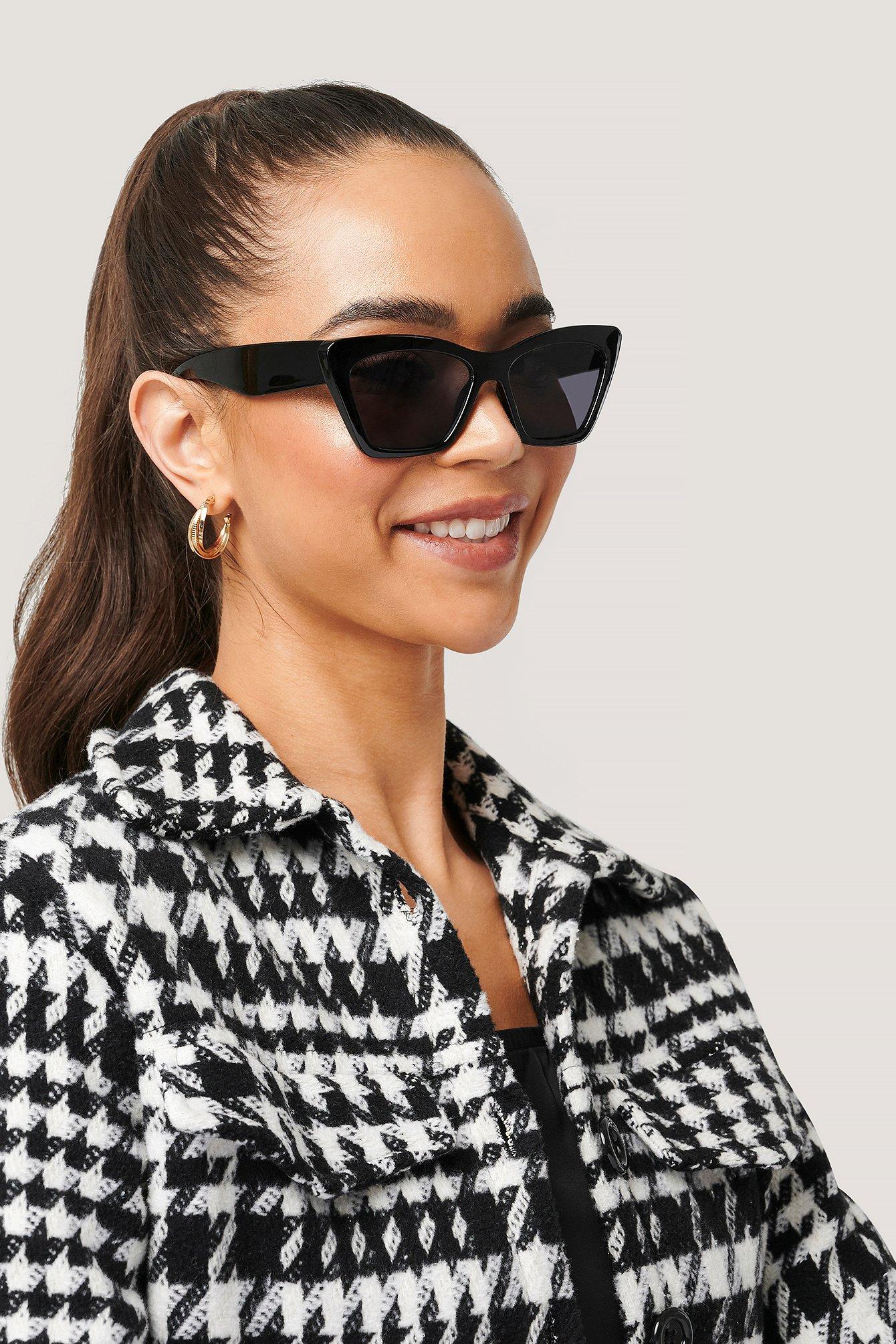 na-kd accessories -  Mit Quadratischer Spitze Cateye-Sonnenbrille - Black