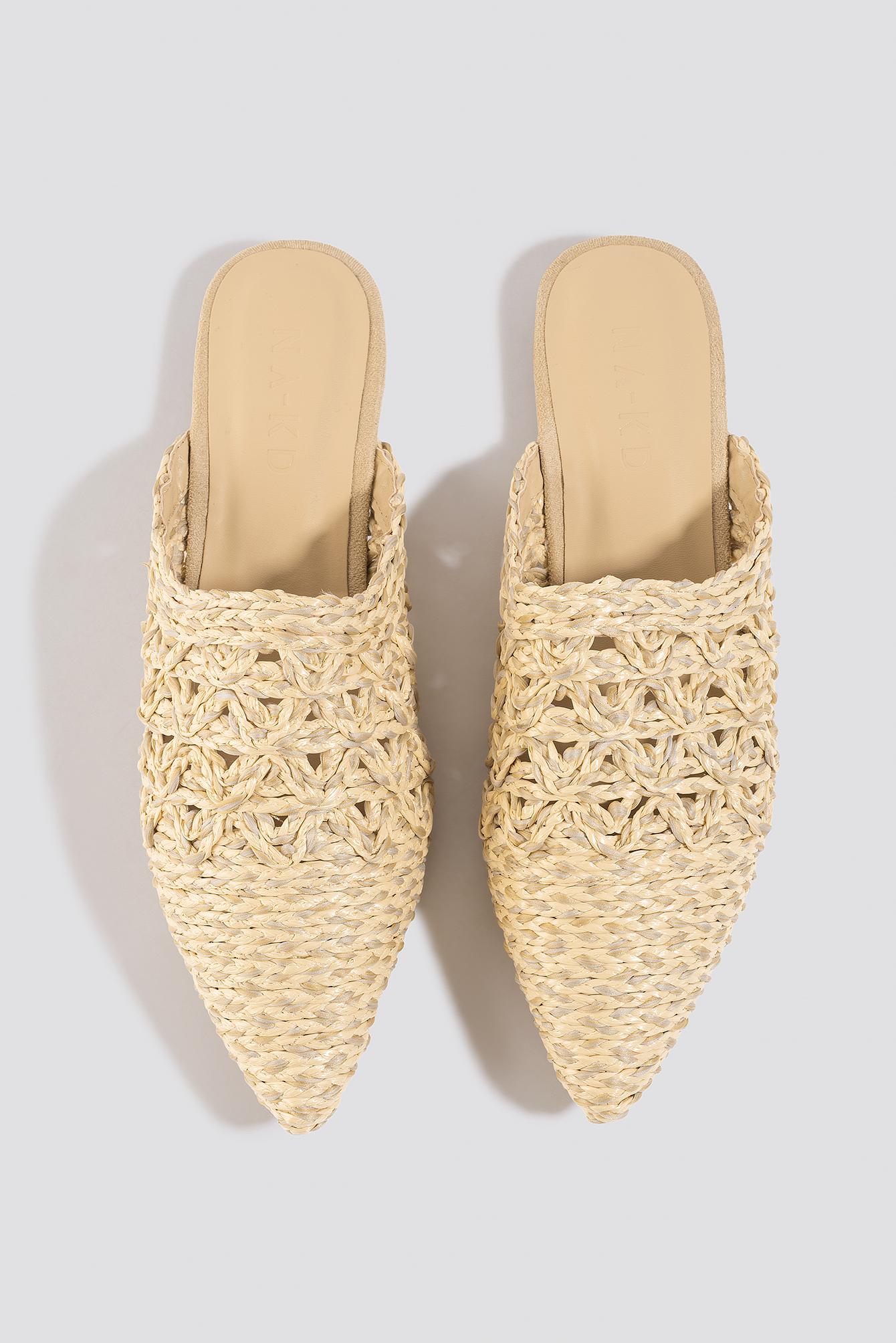 Pointy Strawy Sandals NA-KD.COM