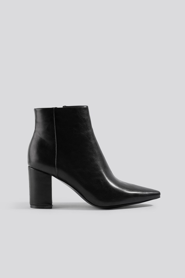 Pointy Toe Ankle Boots NA-KD Shoes