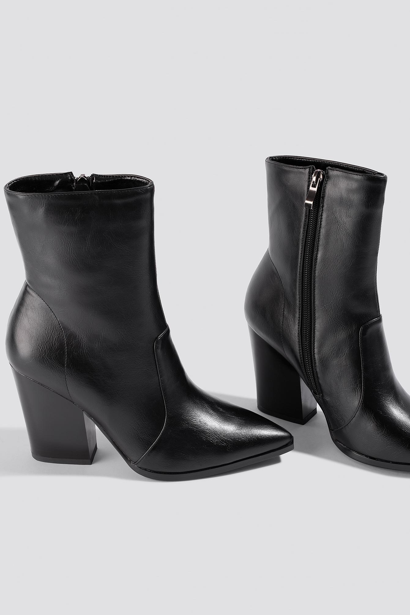 Pointy Western Boots NA-KD.COM