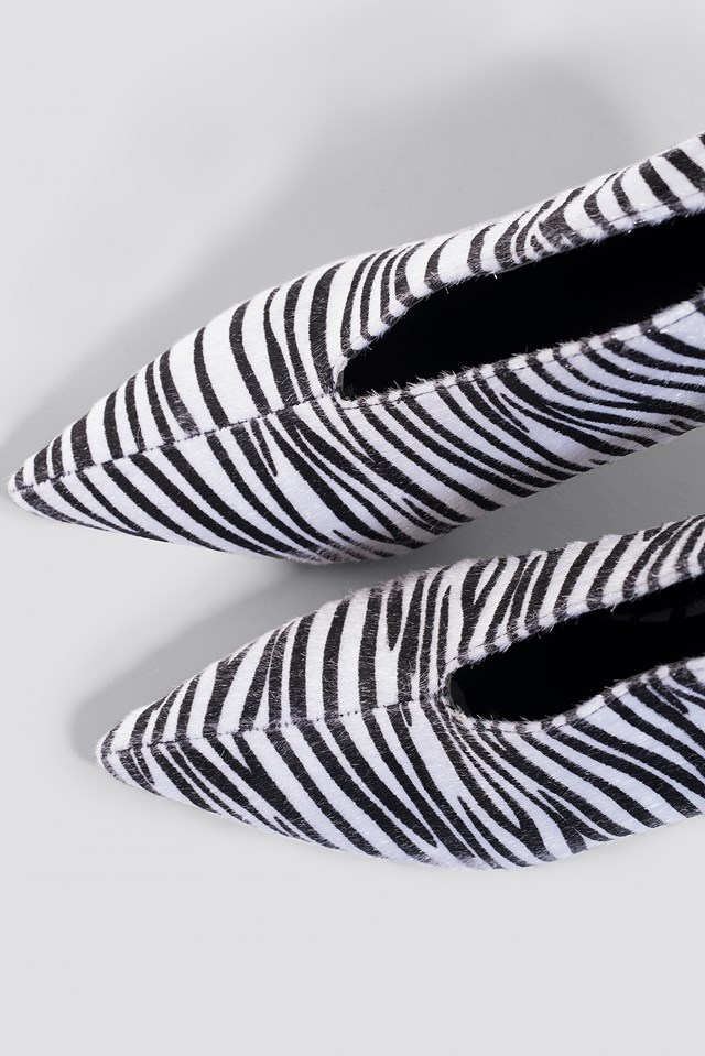 Pointy Zebra Heels Zebra