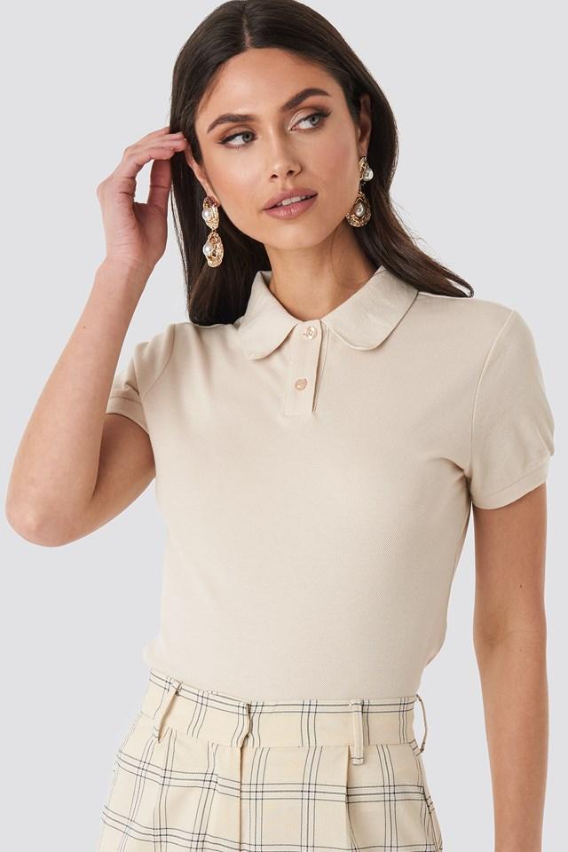 Polo Neck T-shirt Off White