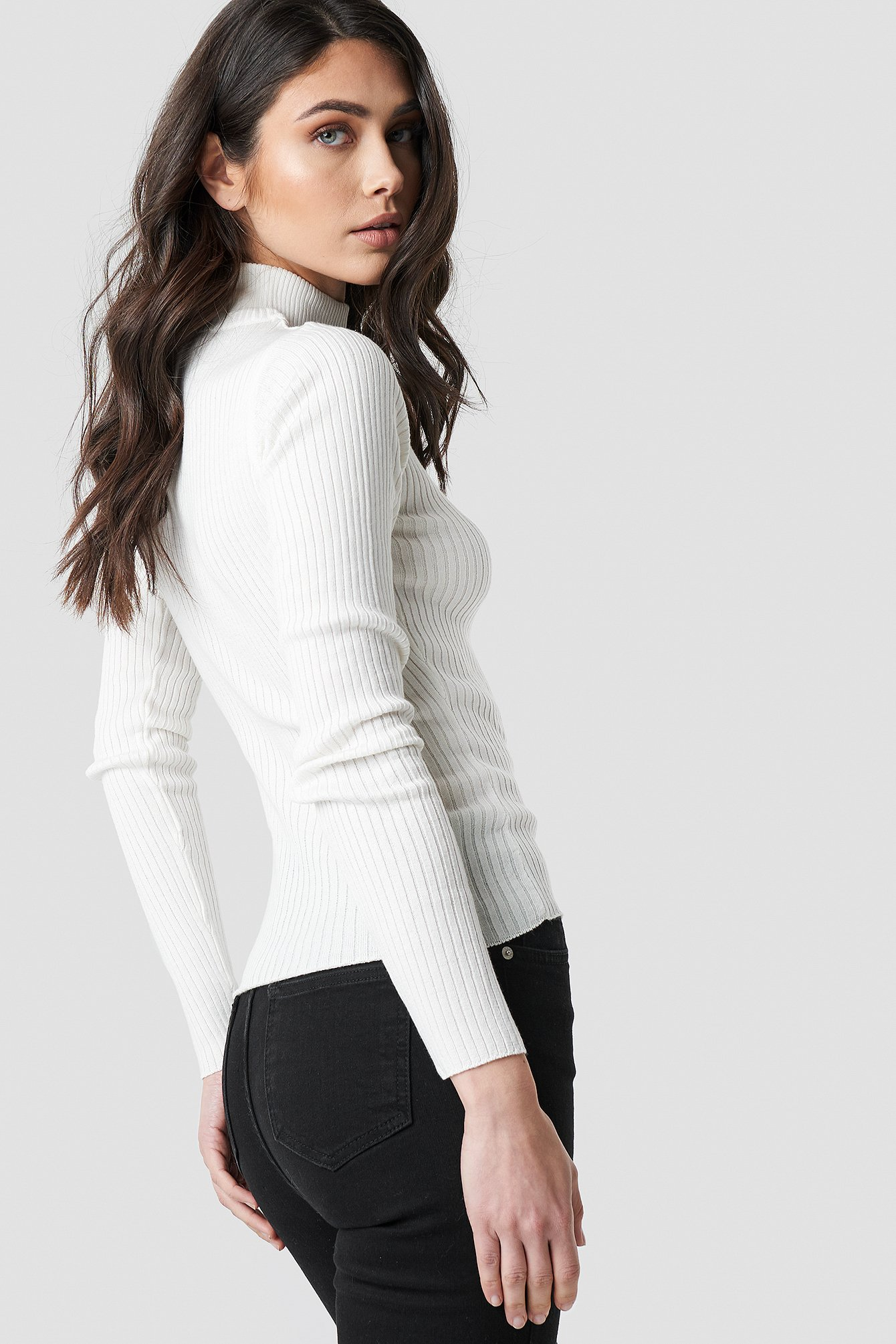 Polo Ribbed Knitted Sweater NA-KD.COM