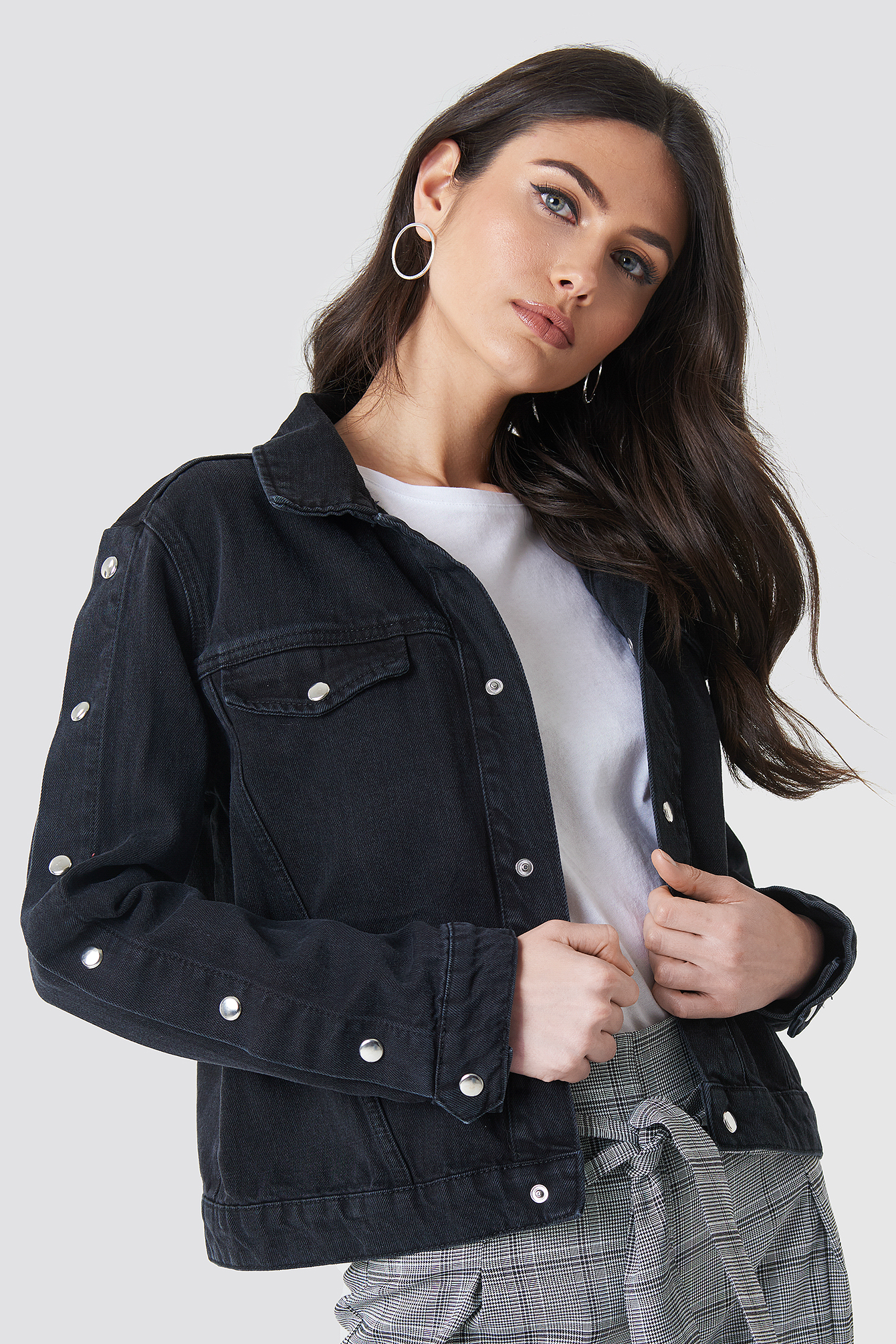 Poppers Sleeve Denim Jacket NA-KD.COM