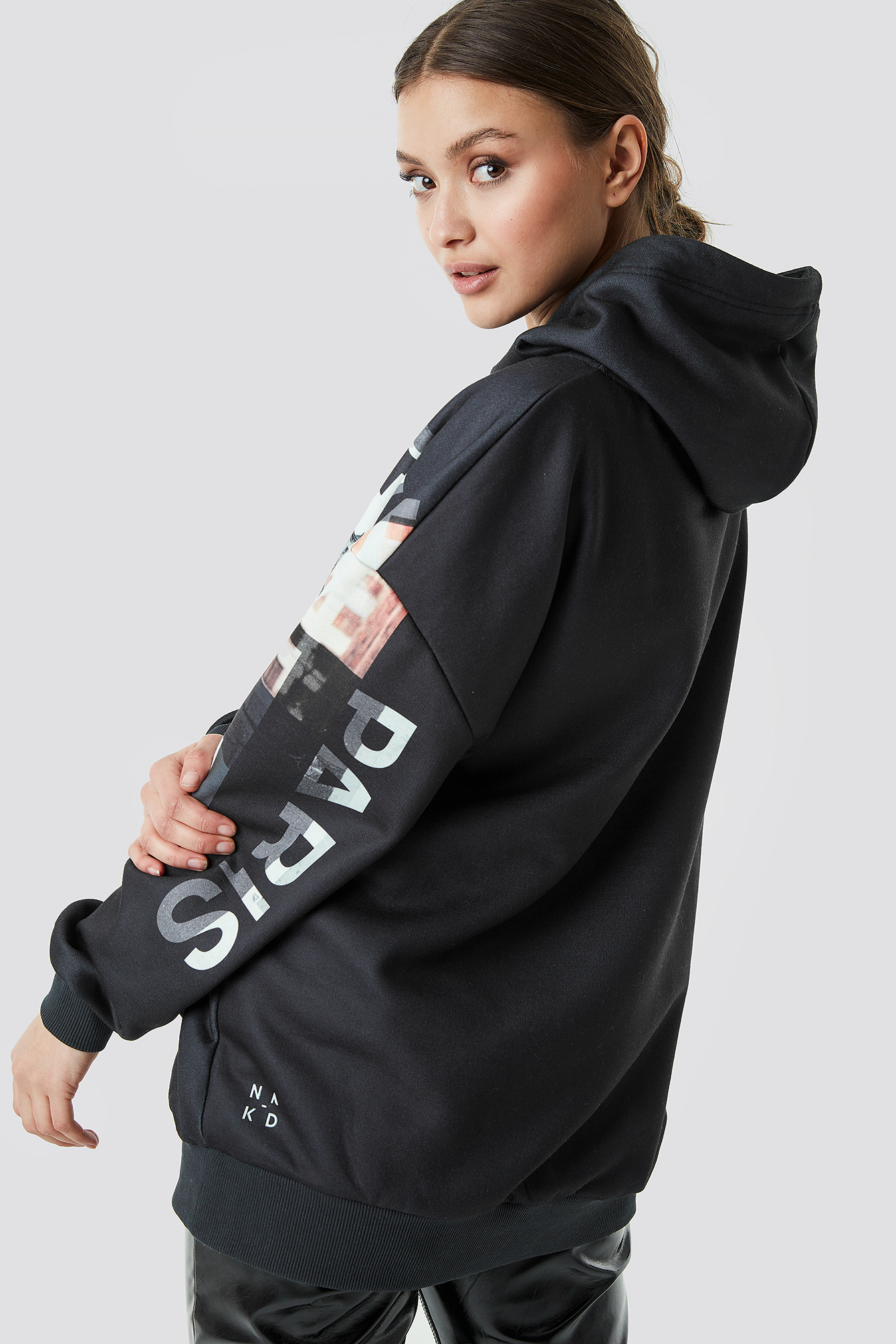 Poster Print Oversized Hoodie NA-KD.COM