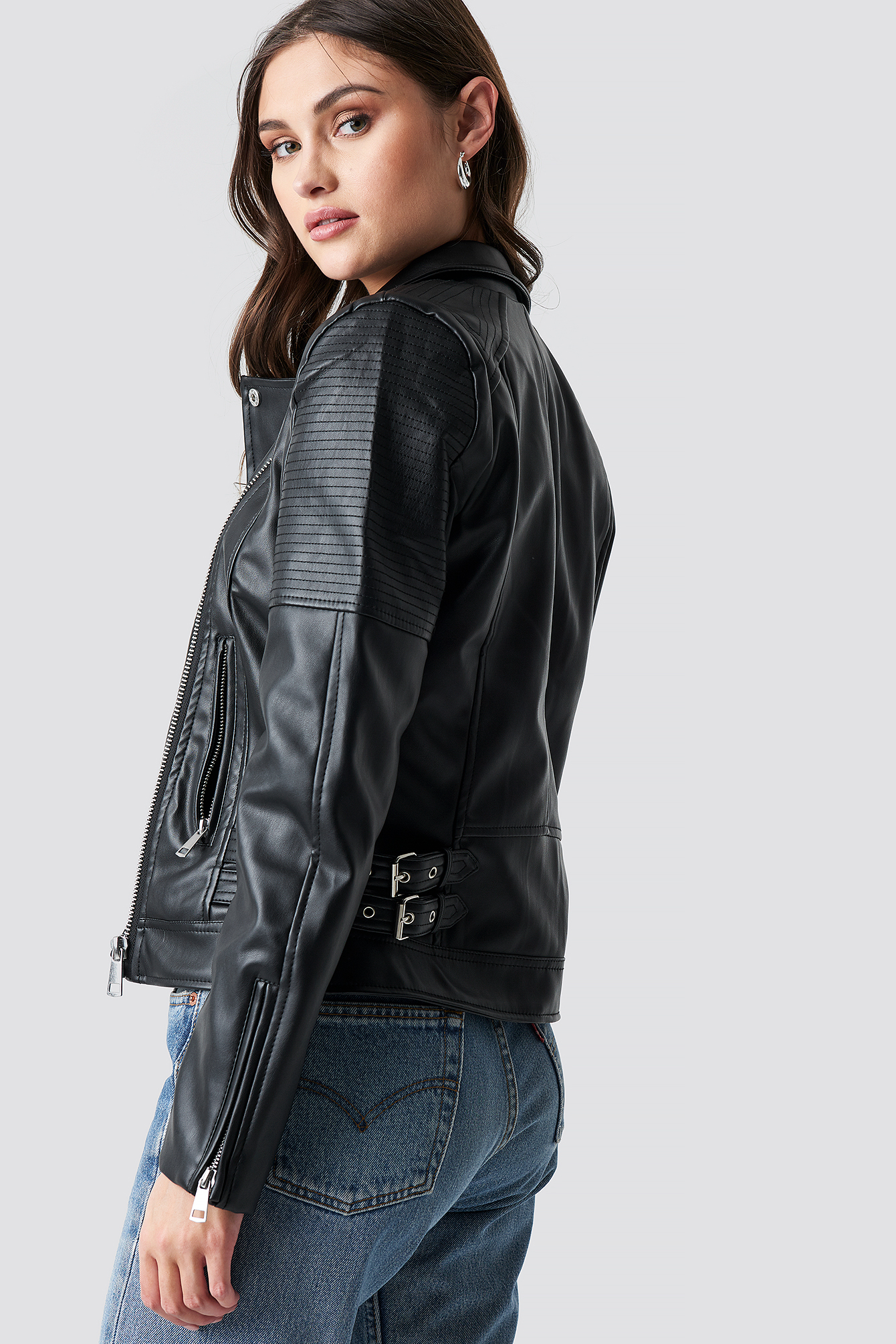 Power Shoulder PU Jacket NA-KD.COM