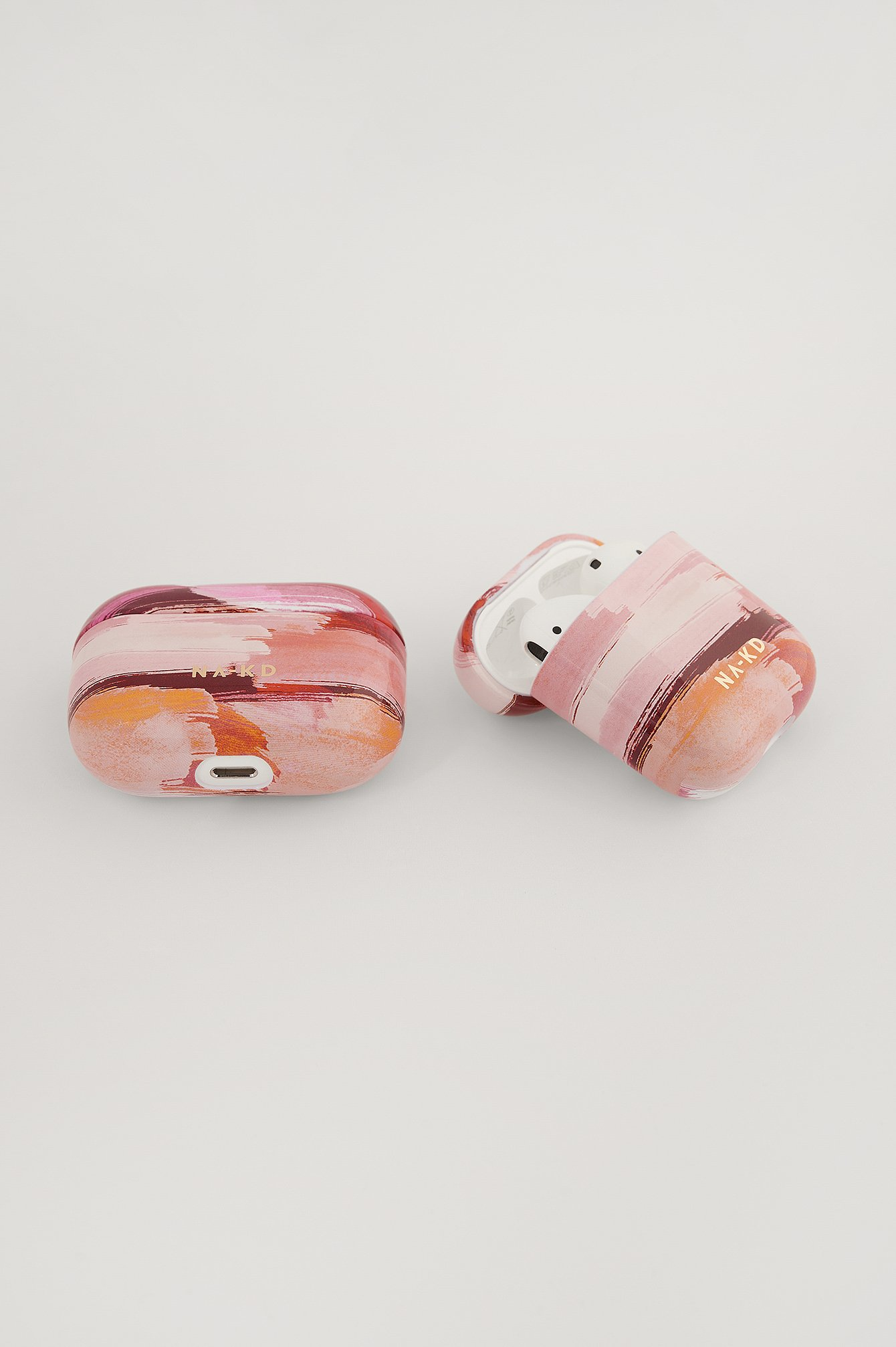 Abstract Pink Printed AirPod Case