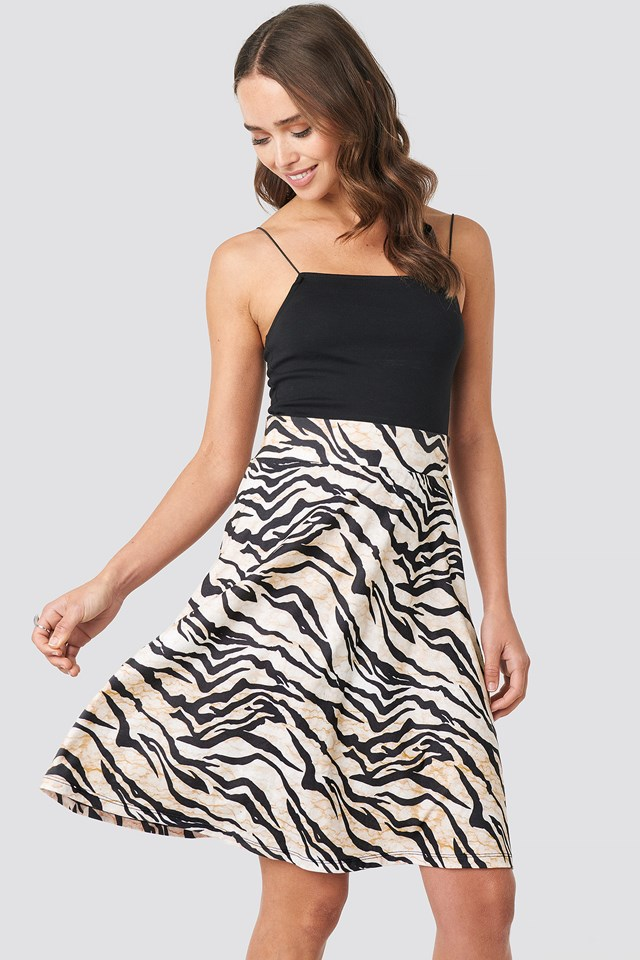 Printed Jersey Skirt NA-KD.COM