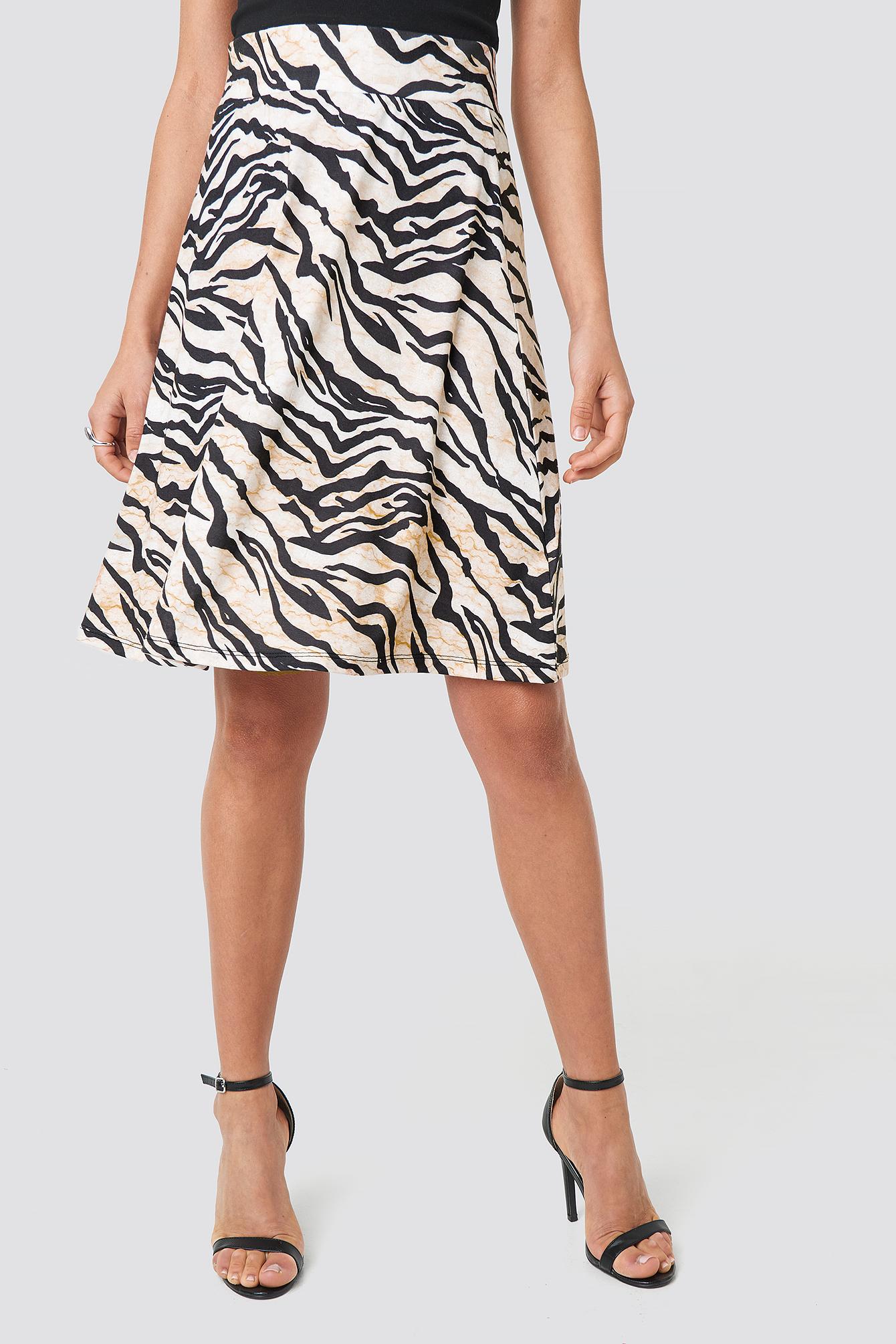 Printed Jersey Skirt NA-KD.COM