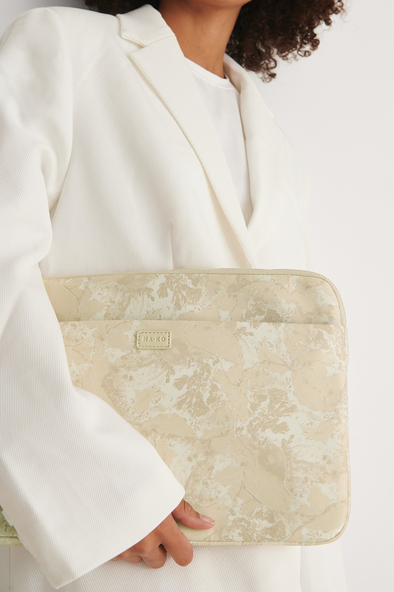 Nude Marble Printed Laptop Case