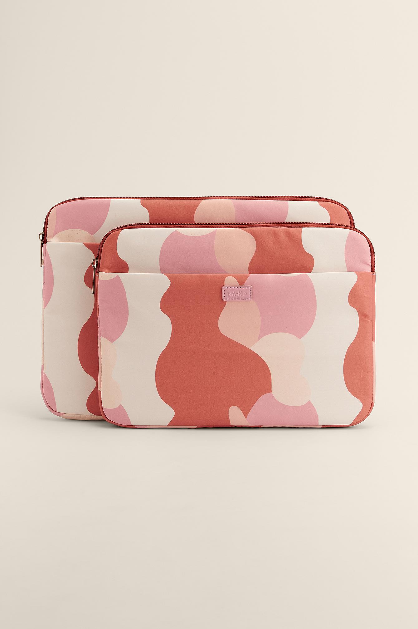 na-kd accessories -  Bedruckte Laptop-Schutzhülle - Pink