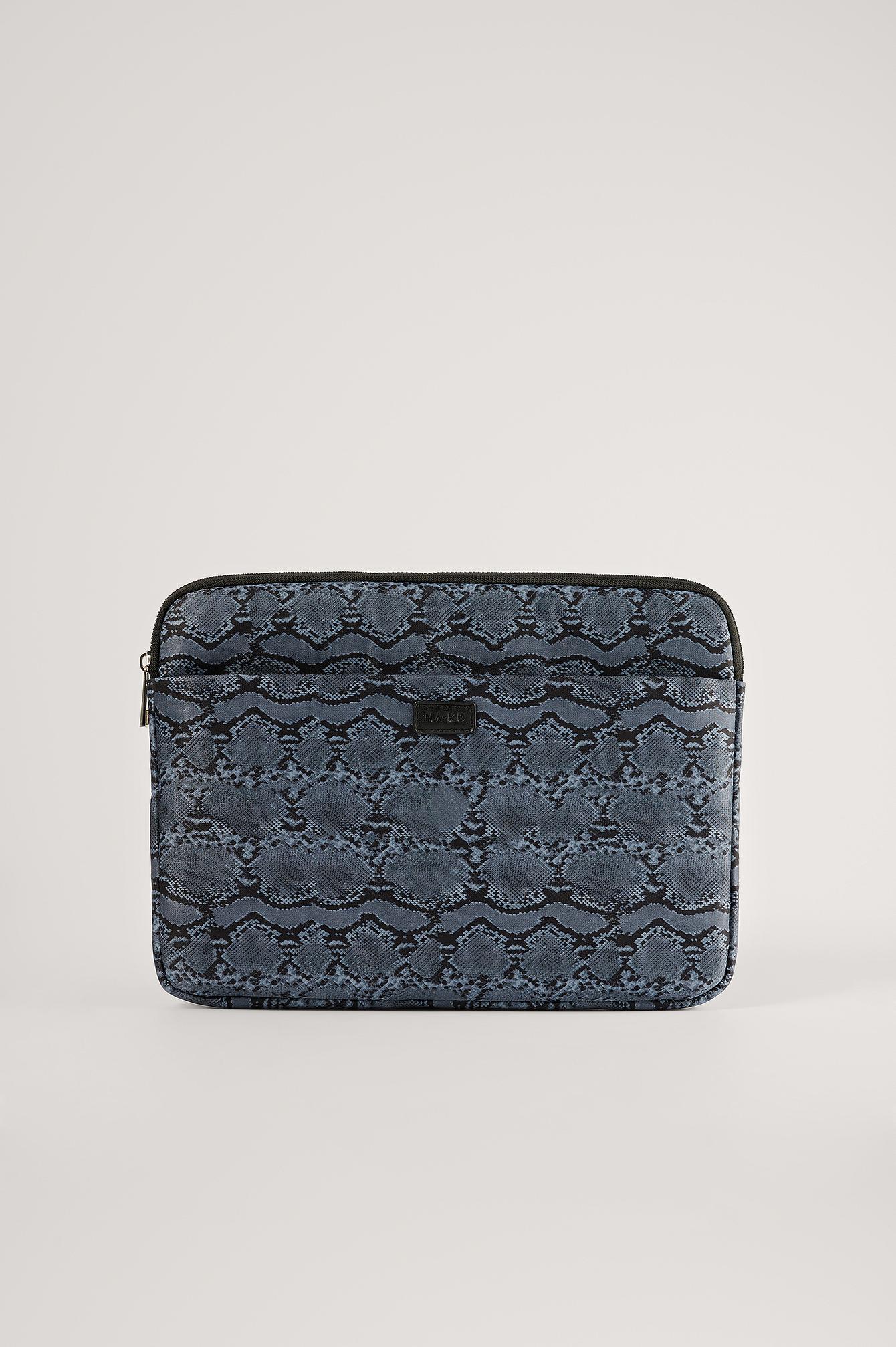 na-kd accessories -  Bedruckte Laptop-Schutzhülle - Blue