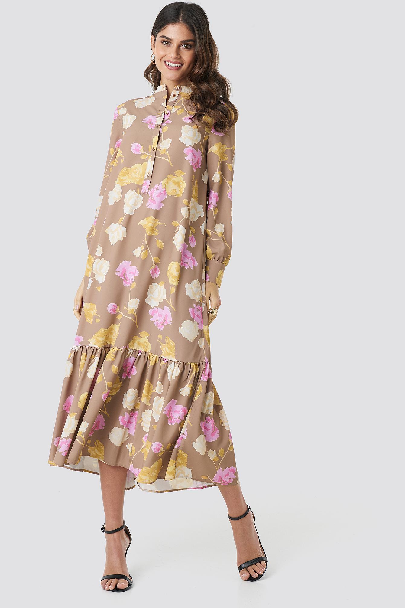 Printed Maxi Dress NA-KD.COM
