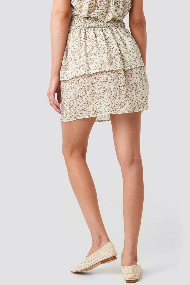 Printed Mini Smock Skirt NA-KD.COM