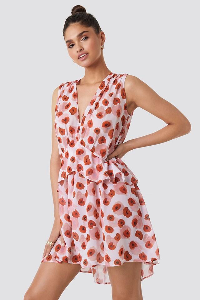 Printed Short Chiffon Dress NA-KD.COM