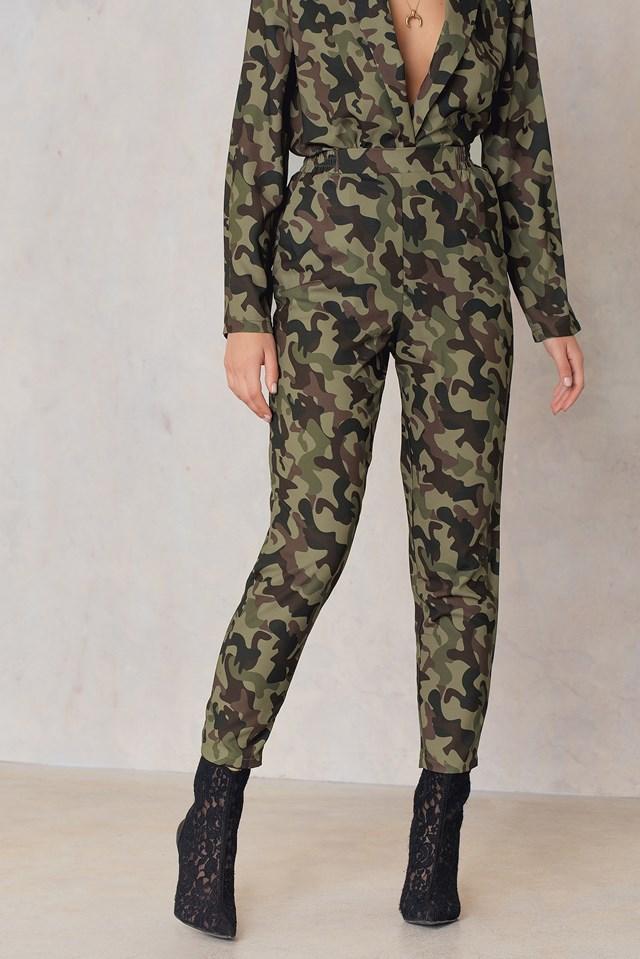 Printed Straight Pants NA-KD.COM