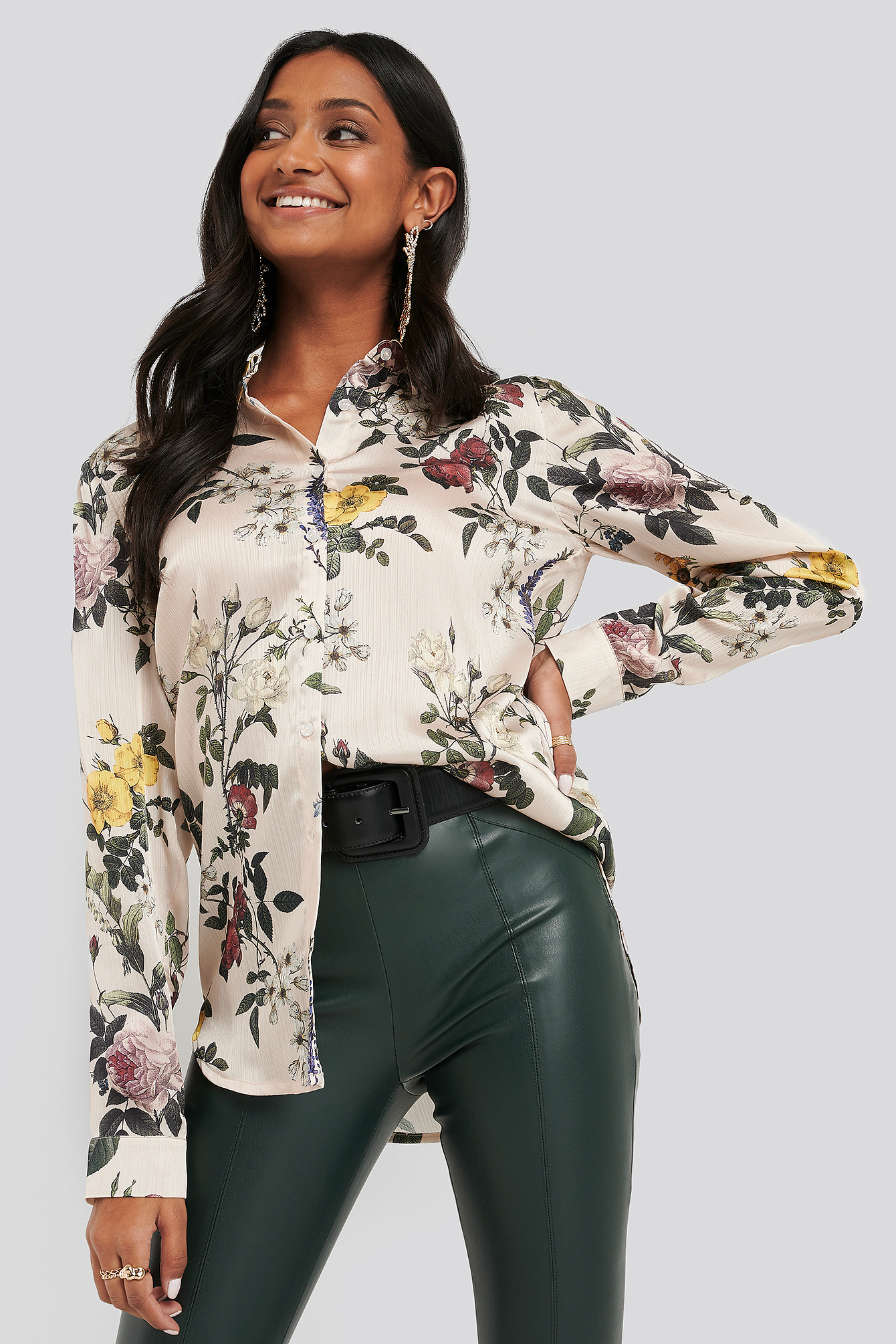 na-kd -  Printed Woven Shirt - Multicolor