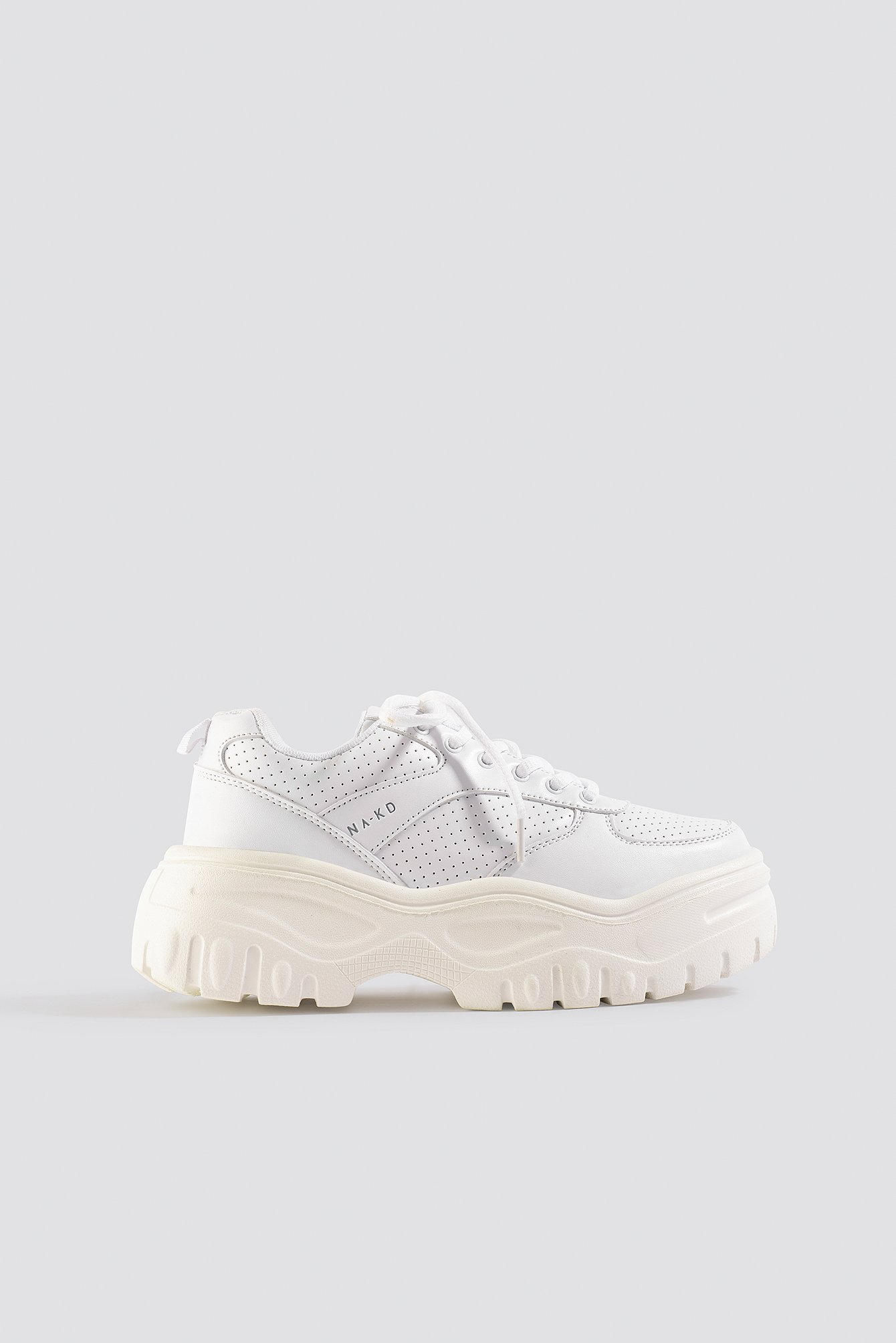na-kd shoes -  Profile Sole Sneakers - White