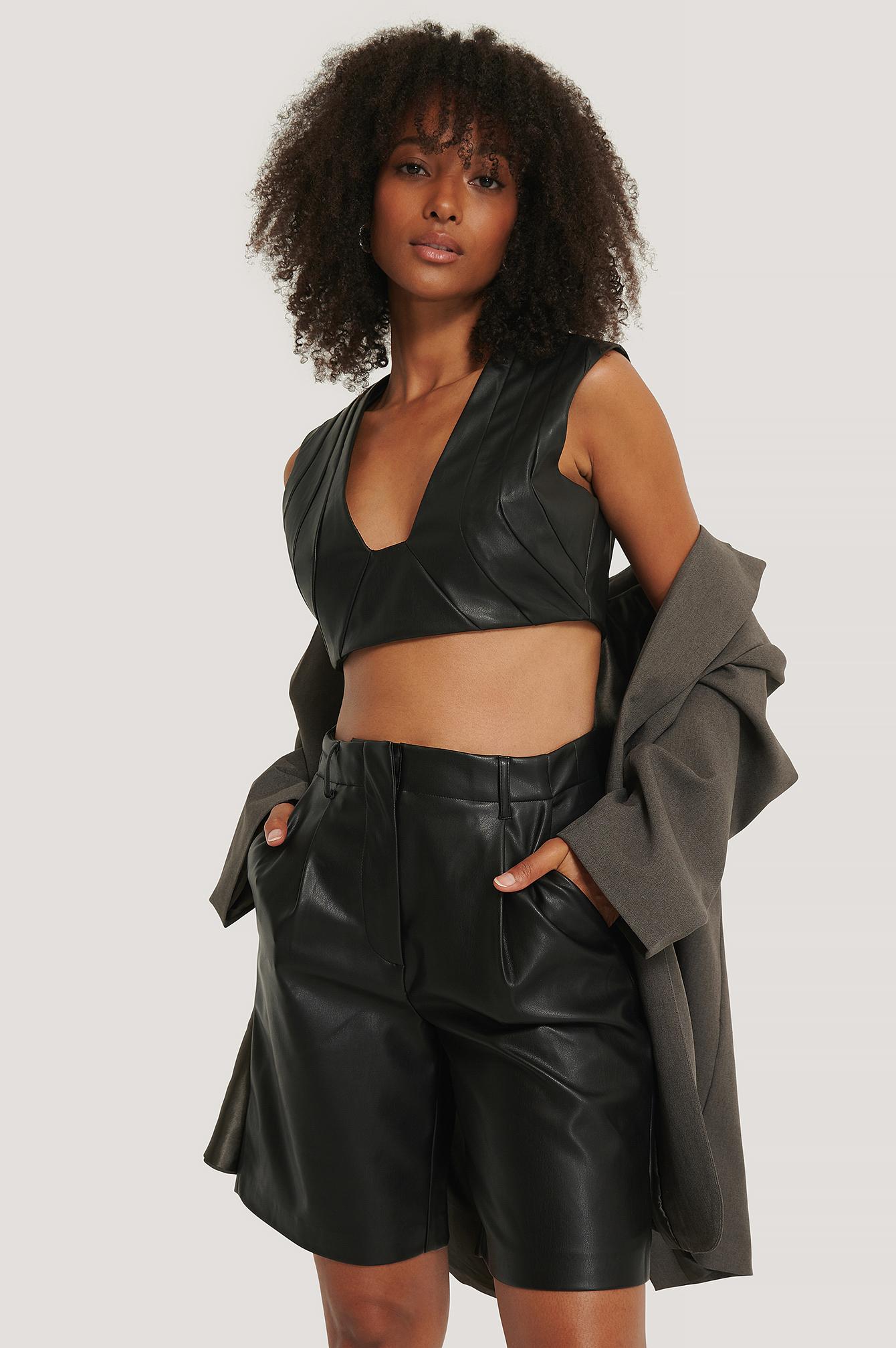 na-kd trend -  Pu Bermuda Shorts - Black